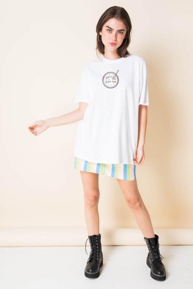 Daisy Street X Mocean Oversized T-Shirt with Have a Nice Day Print