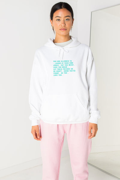 Daisy Street Oversized Hoodie with Love Yourself Print