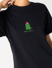Daisy Street Relaxed T-Shirt with Happy Rexmas Print