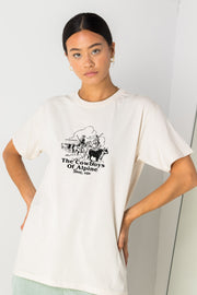 Daisy Street Relaxed T-Shirt with The Cowboys Of Alpine Print
