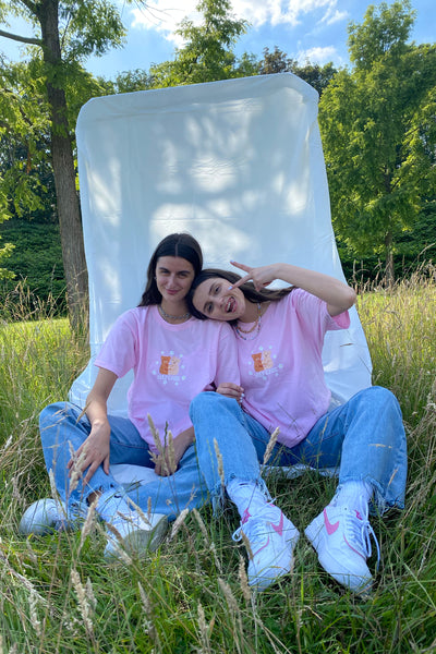Daisy Street X Mocean Oversized T-Shirt with Self Care Bear Print