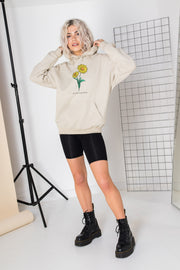 Daisy Street Oversized Hoodie with Live Life in full Bloom Print