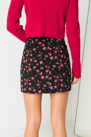 Daisy Street Mini Skirt in Pink Ditsy Floral