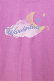 Daisy Street Relaxed T-Shirt with Wanderlust Coud Print
