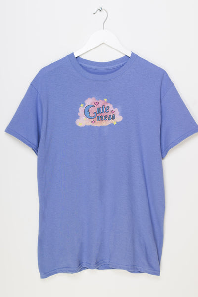 Daisy Street Relaxed T-Shirt with Cute Mess Print