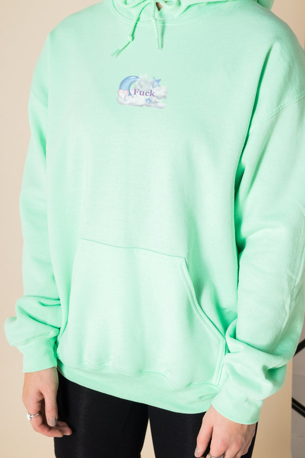 Daisy Street Oversized Hoodie with Cute as F*ck Print
