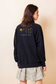 Daisy Street Oversized Sweatshirt with Growth Back Print