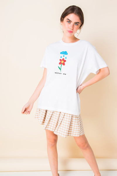Daisy Street Relaxed T-Shirt with Crayon Water Me Print