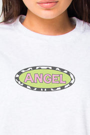 Daisy Street Relaxed T-Shirt With Angel Print