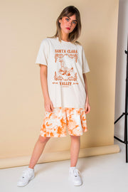Daisy Street Relaxed T-Shirt with Santa Clara Valley Print