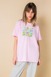 Daisy Street Relaxed T-Shirt with Pastel Tarot Card Print