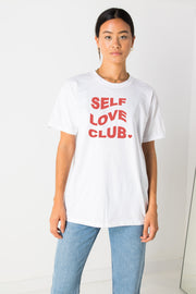 Daisy Street Relaxed T-Shirt with Self Love Club Print