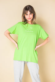 Daisy Street Relaxed T-Shirt with Wanderlust Print