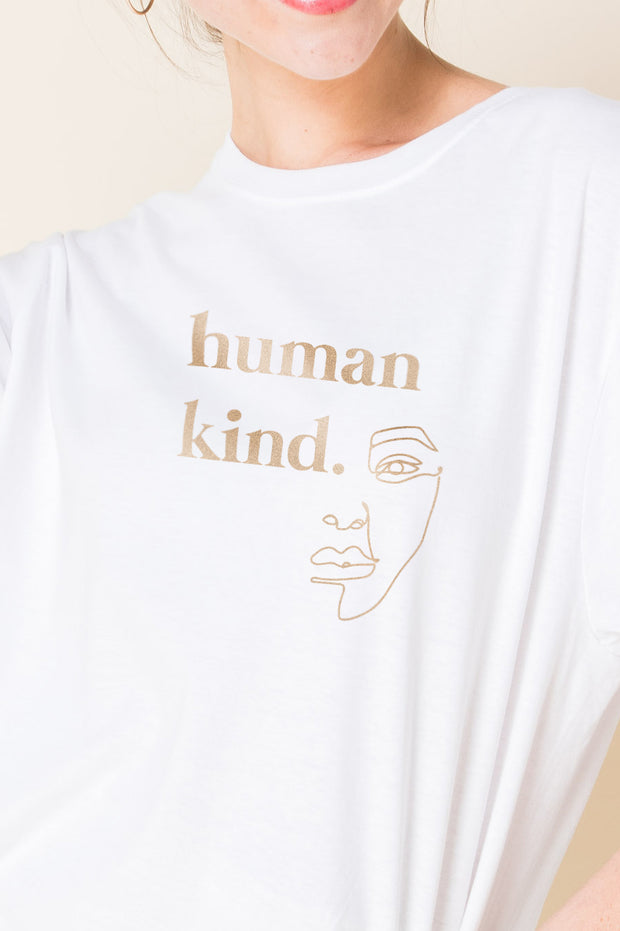 Daisy Street Relaxed T-Shirt with Human Kind Print
