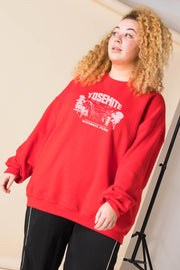 Daisy Street Curve Oversized Sweatshirt with Yosemite Print