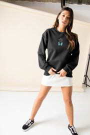 Daisy Street Oversized Sweatshirt with Do Nothin Club Print