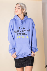 Daisy Street Oversized Hoodie with Ray of F*cking Sunshine Print