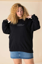 Daisy Street Curve Oversized Sweatshirt with Stay Home Print