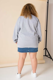 Daisy Street Curve Oversized Sweatshirt with Atlanta Georgia Print