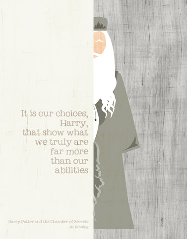 Dumbledore Quote / Harry Potter / JK Rowling
