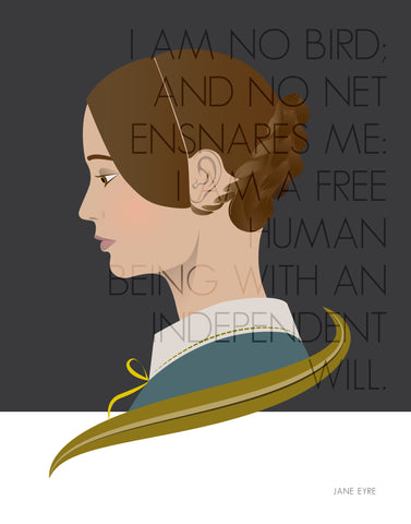 Charlotte Bronte / Jane Eyre / Formidable Women in Literature