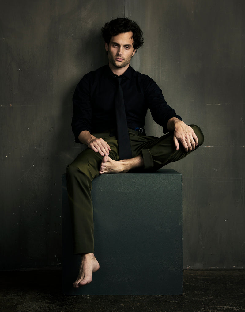 Emmy Magazine - Penn Badgley Wears Swonne