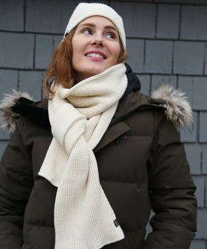 SW1 Scarf & Beanie Gift Set, Natural