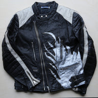Black / White Motorcycle Jacket