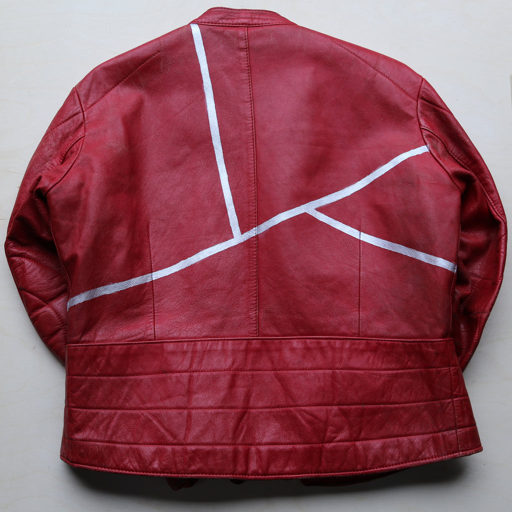 Custom Red Motorcycle Jacket
