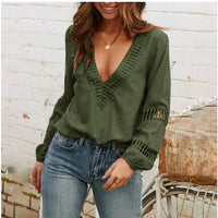 Olive Shirt, Long Sleeve, Shirt Top