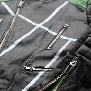 Black / Green Motorcycle Jacket