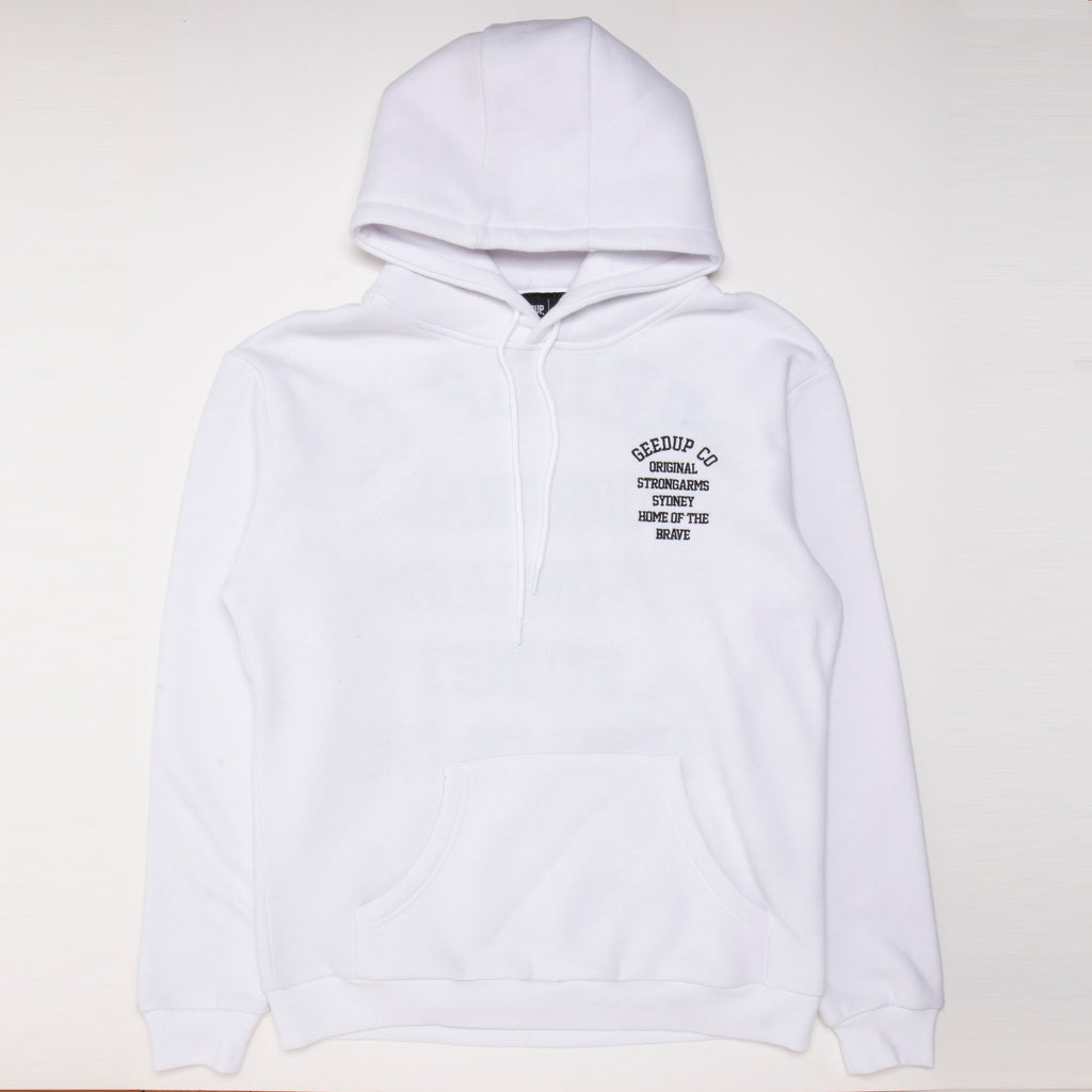 Home of the brave Hoody White