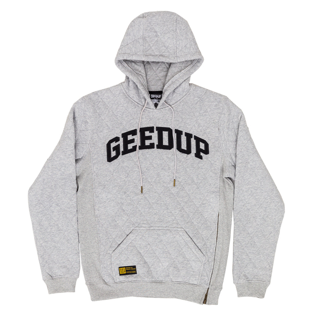 Quilted Team Pullover Hood Grey Marle