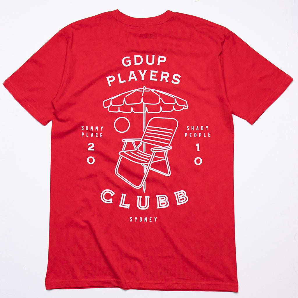 Players Clubb Tee Red