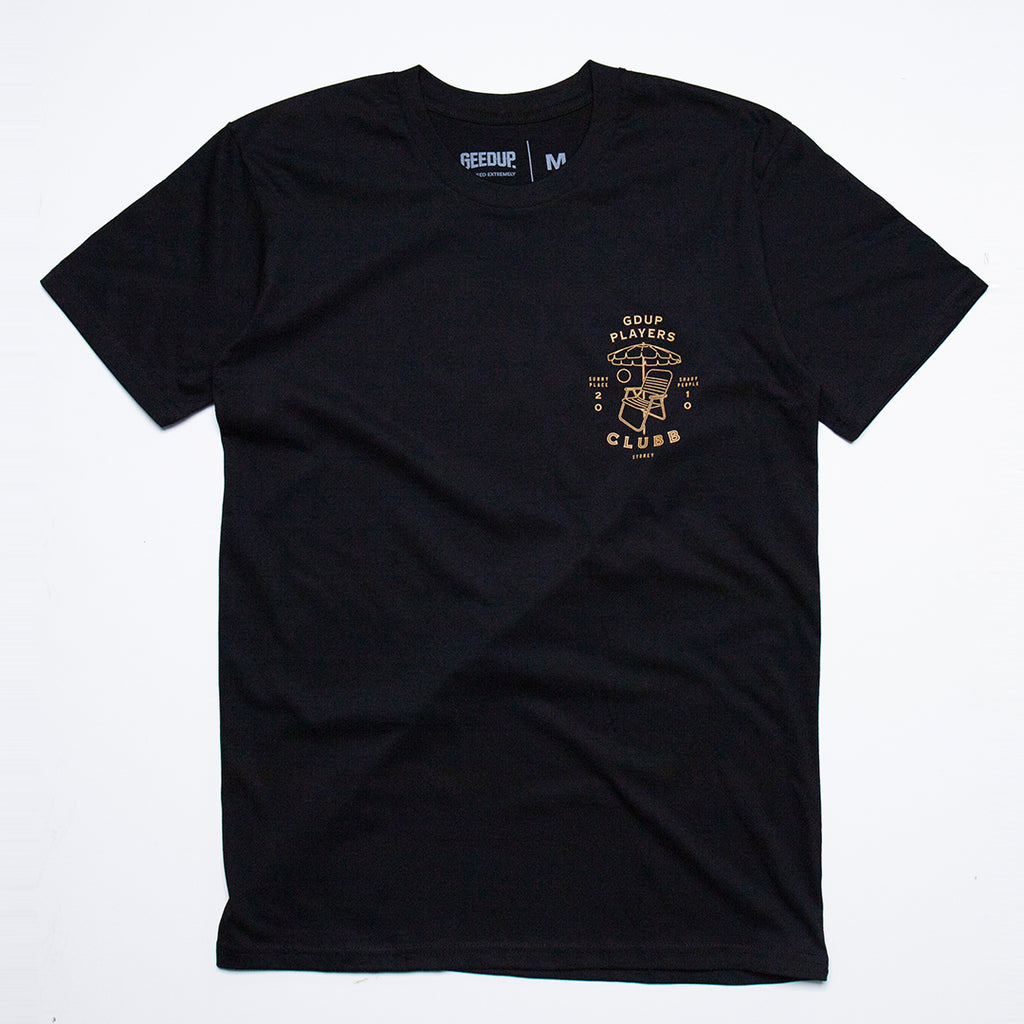 Players Clubb Tee Black