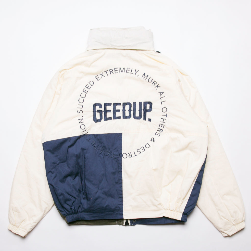 Emblem Jacket Cream/Navy