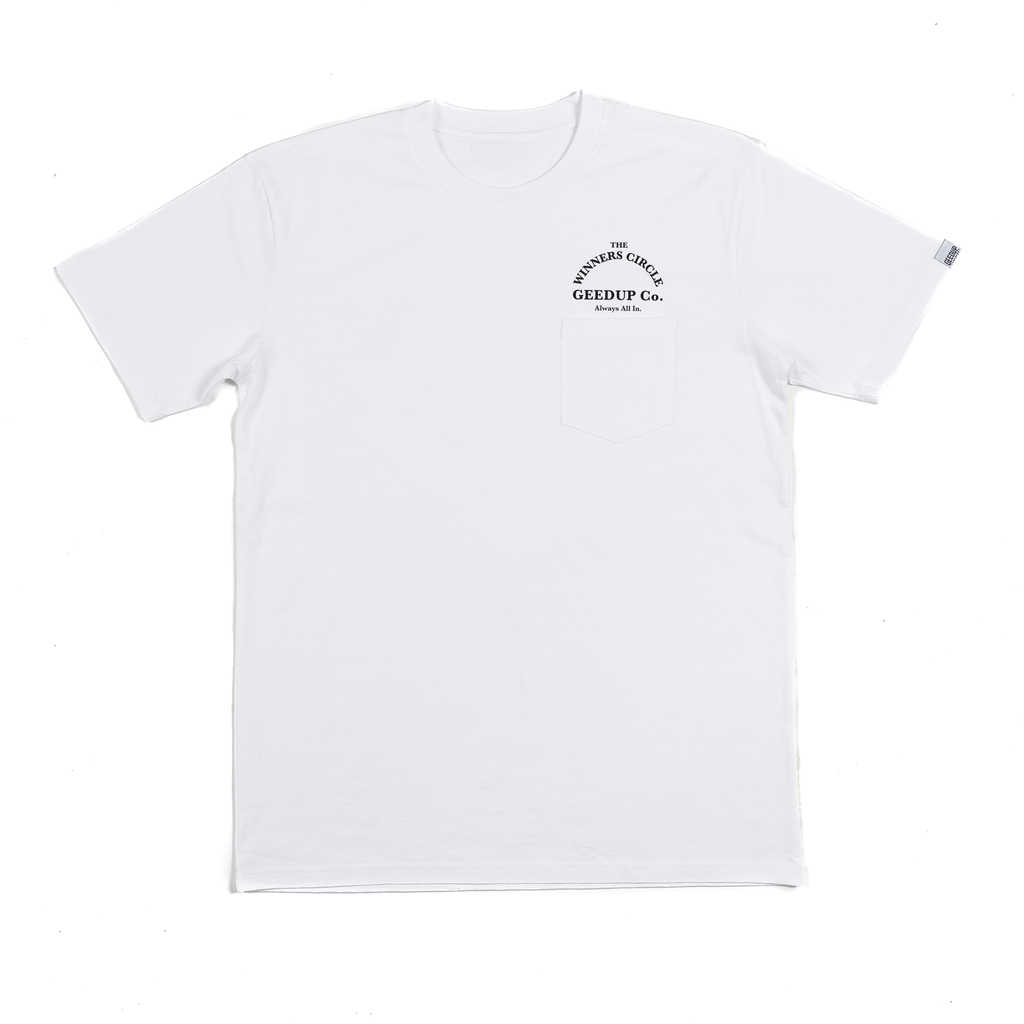 Winners Circle Tee White
