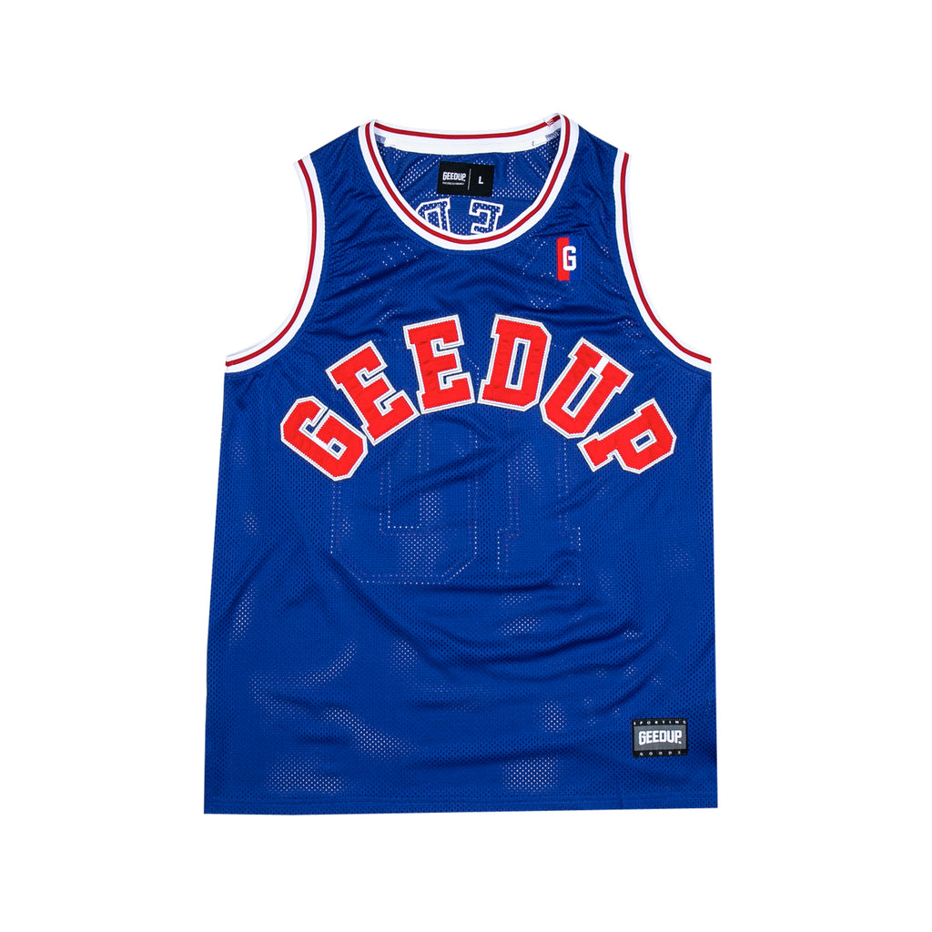 College Logo B-Ball Jersey Royal Blue