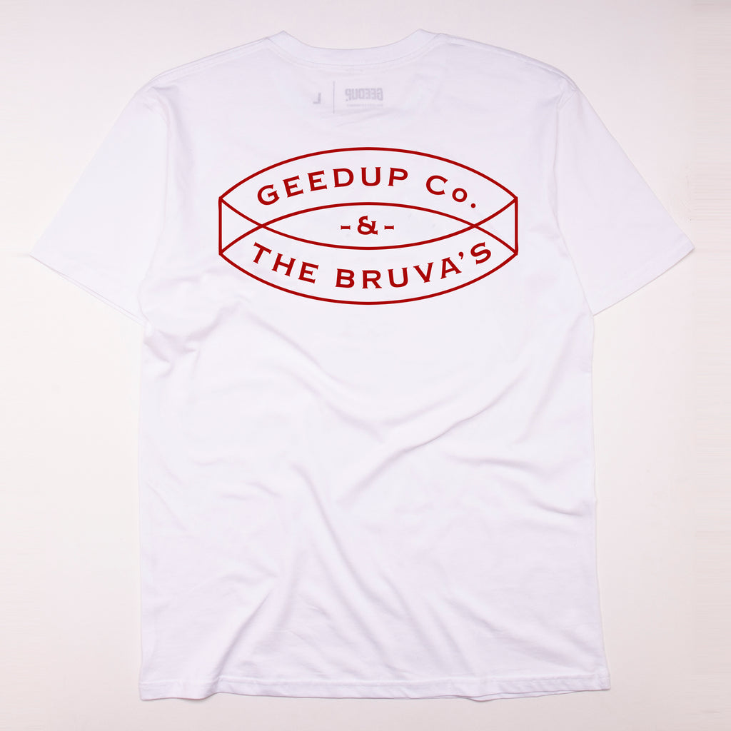 The Bruvas Tee White