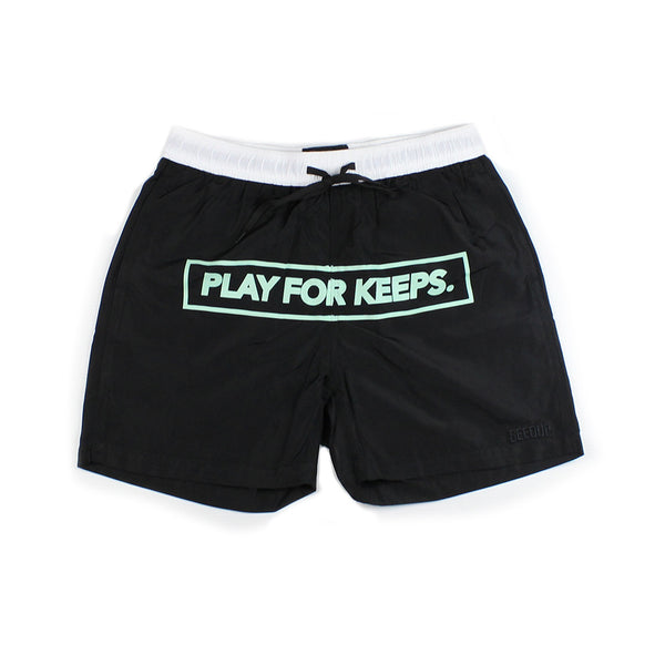 Play For Keeps Swim Shorts Black