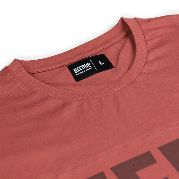 Core Logo Panel Tee Deep Red