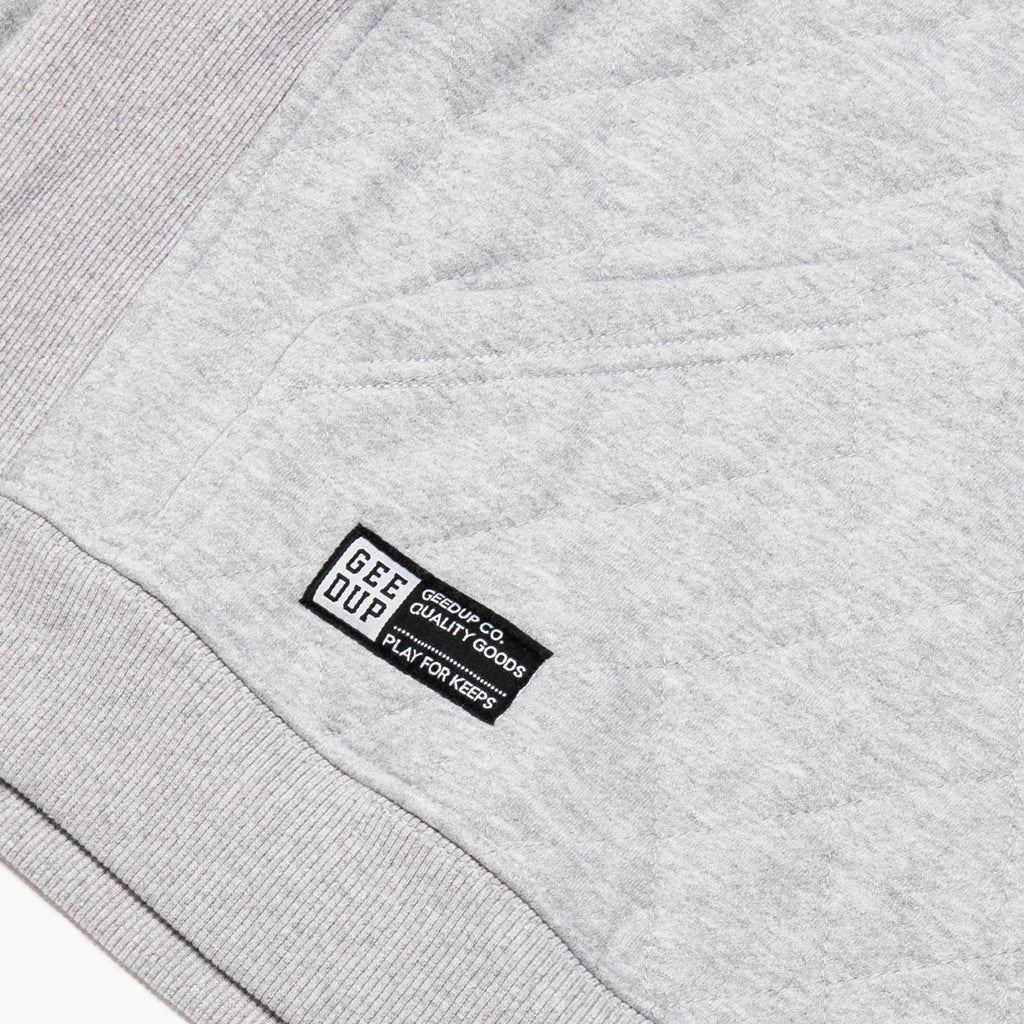 Team Logo Quilted Hoody 2.0 Grey Marle