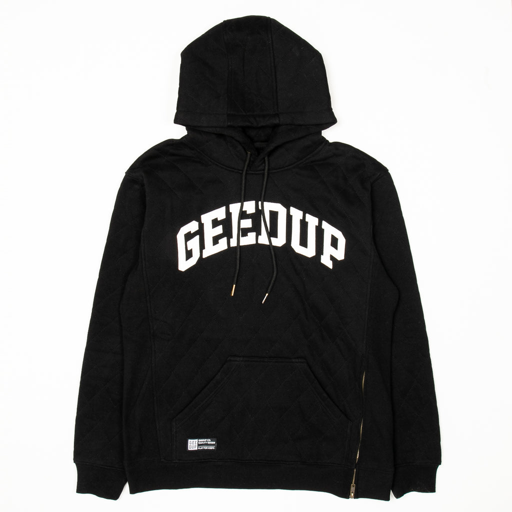 Team Logo Quilted Hoody 2.0 Black