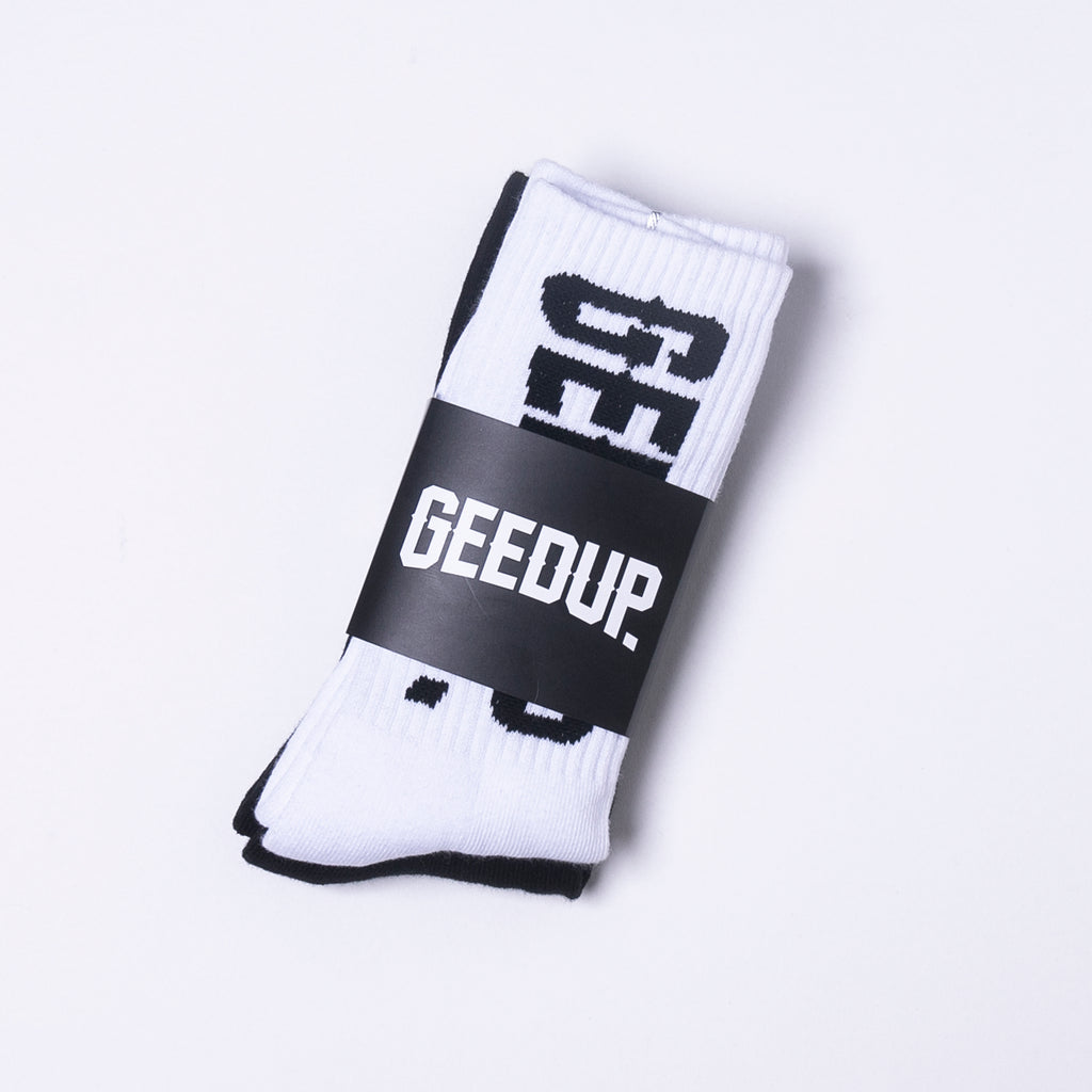 Core Logo Socks B/W 2Pack