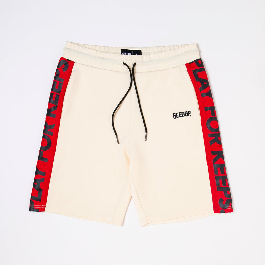 PFK Walk Shorts Cream/Red