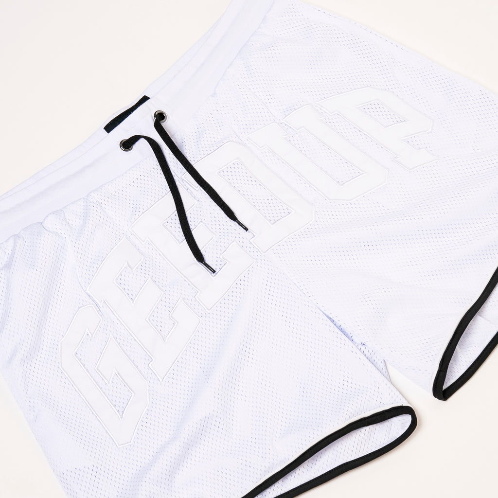 Team Logo B-Ball Shorts White