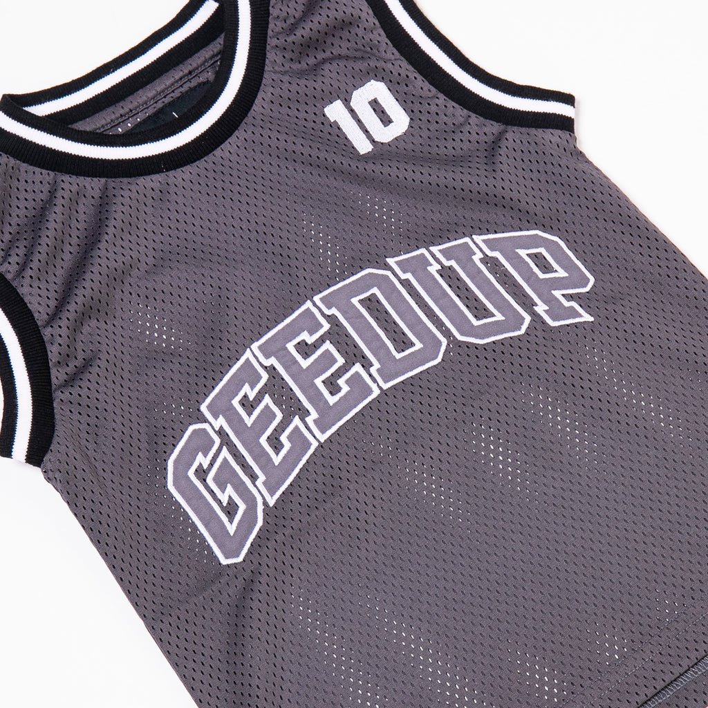 Kids Team Logo B-Ball Jersey Grey