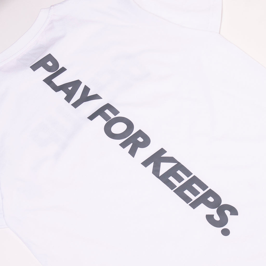 PLAY FOR KEEPS Tee White