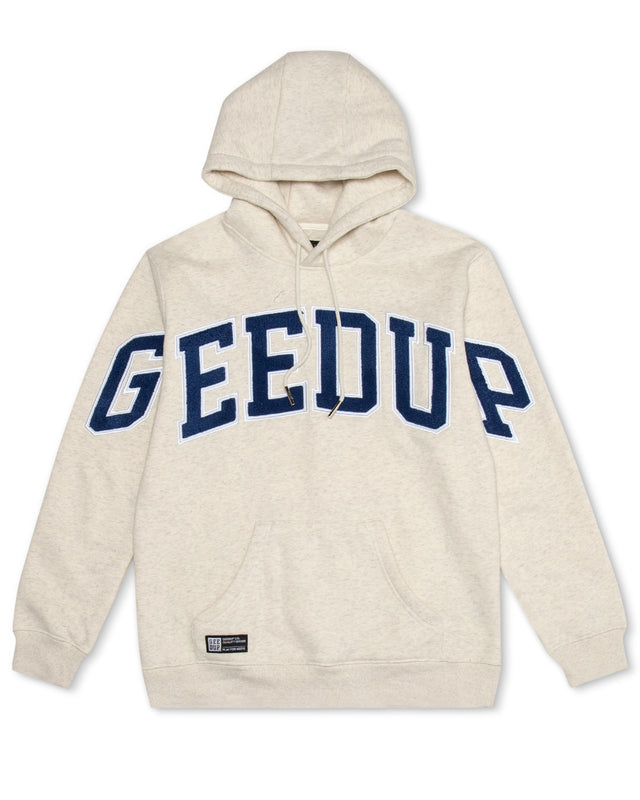 Team Logo Hoody Wheat Marle/Navy