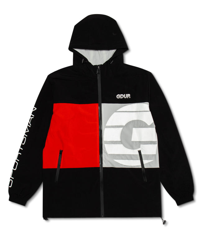 Sportsman Zip Spray Jacket Black/Red